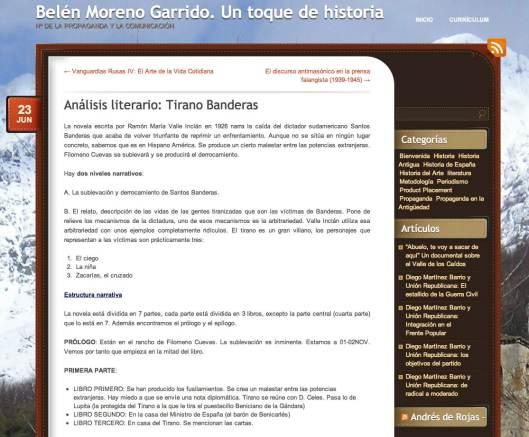Analisis Tirano Banderas
